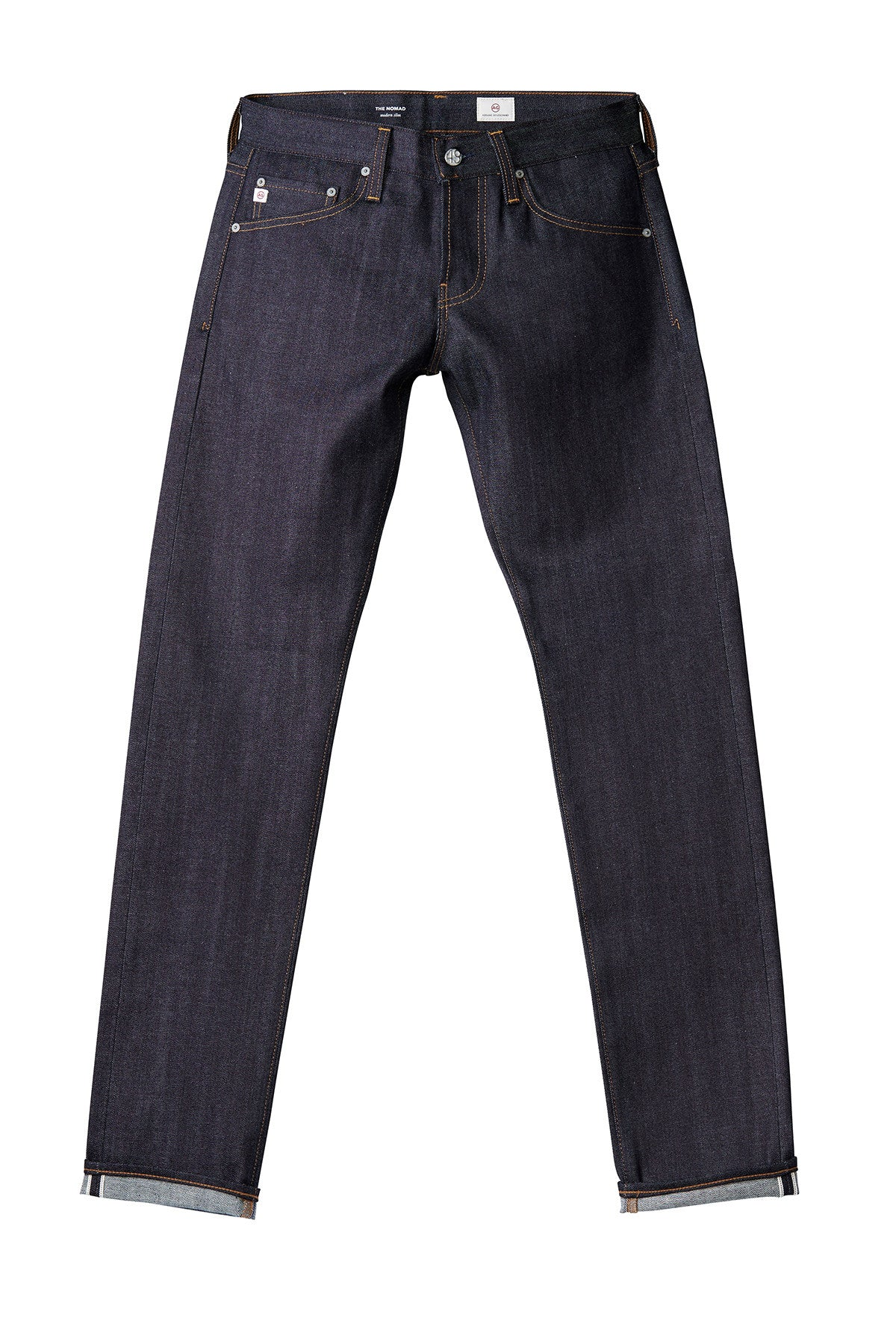 AG 'Nomad' Skinny Fit Jeans in Dark Stretch Selvedge (Signature)