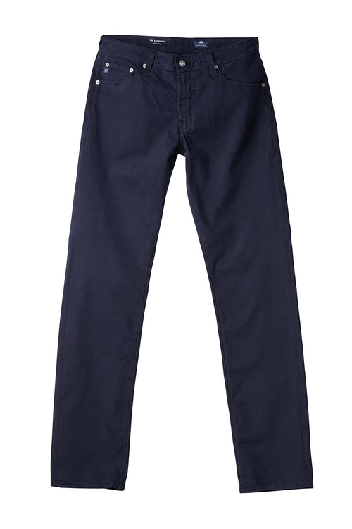 AG 'Graduate' Slim Straight Fit Pants in Sueded Sateen Navy