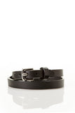 Double Wrap Genuine Leather Bracelet - Black