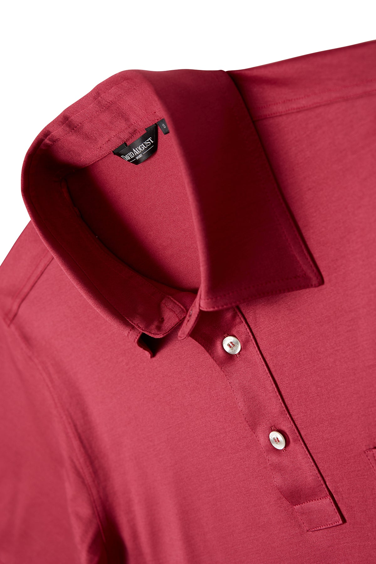 David August Mercerized Cotton Polo in Watermelon