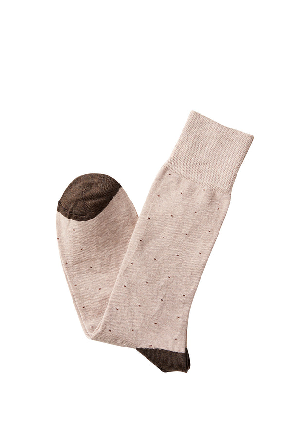 David August Socks - Beige with Brown Specks Socks