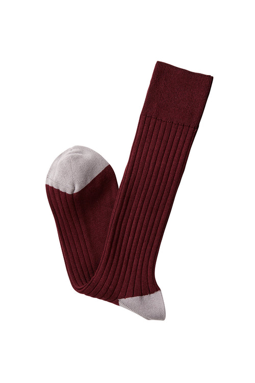David August Socks - Burgundy Socks