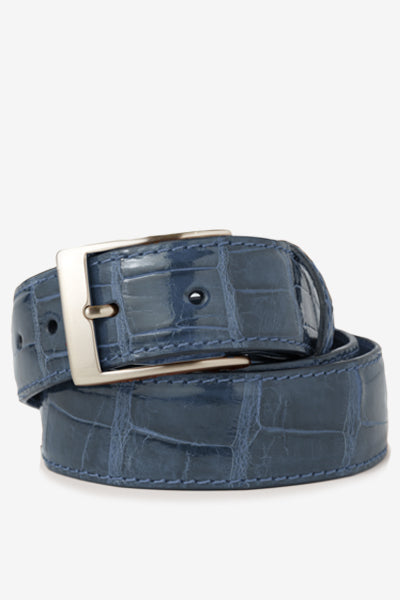 Denim Glossy Alligator Belt