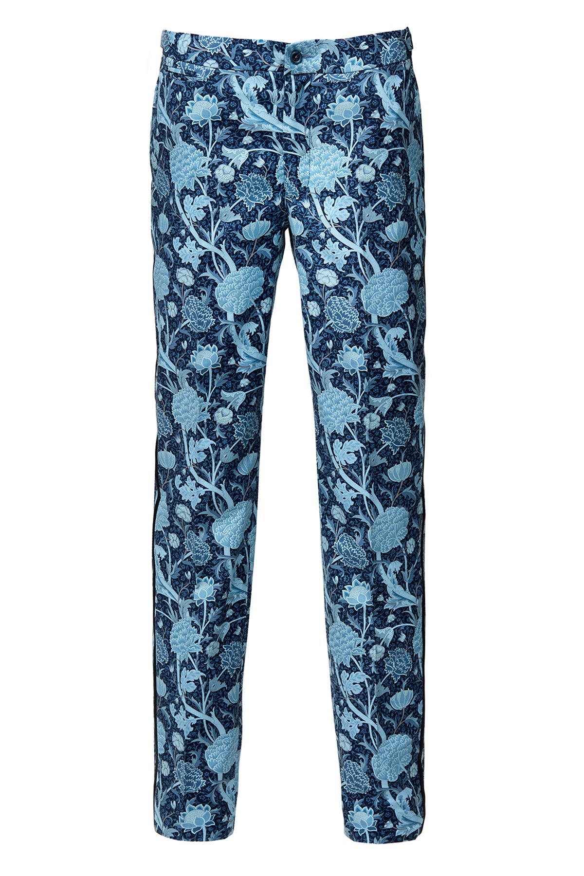 Blue Peonies Trousers