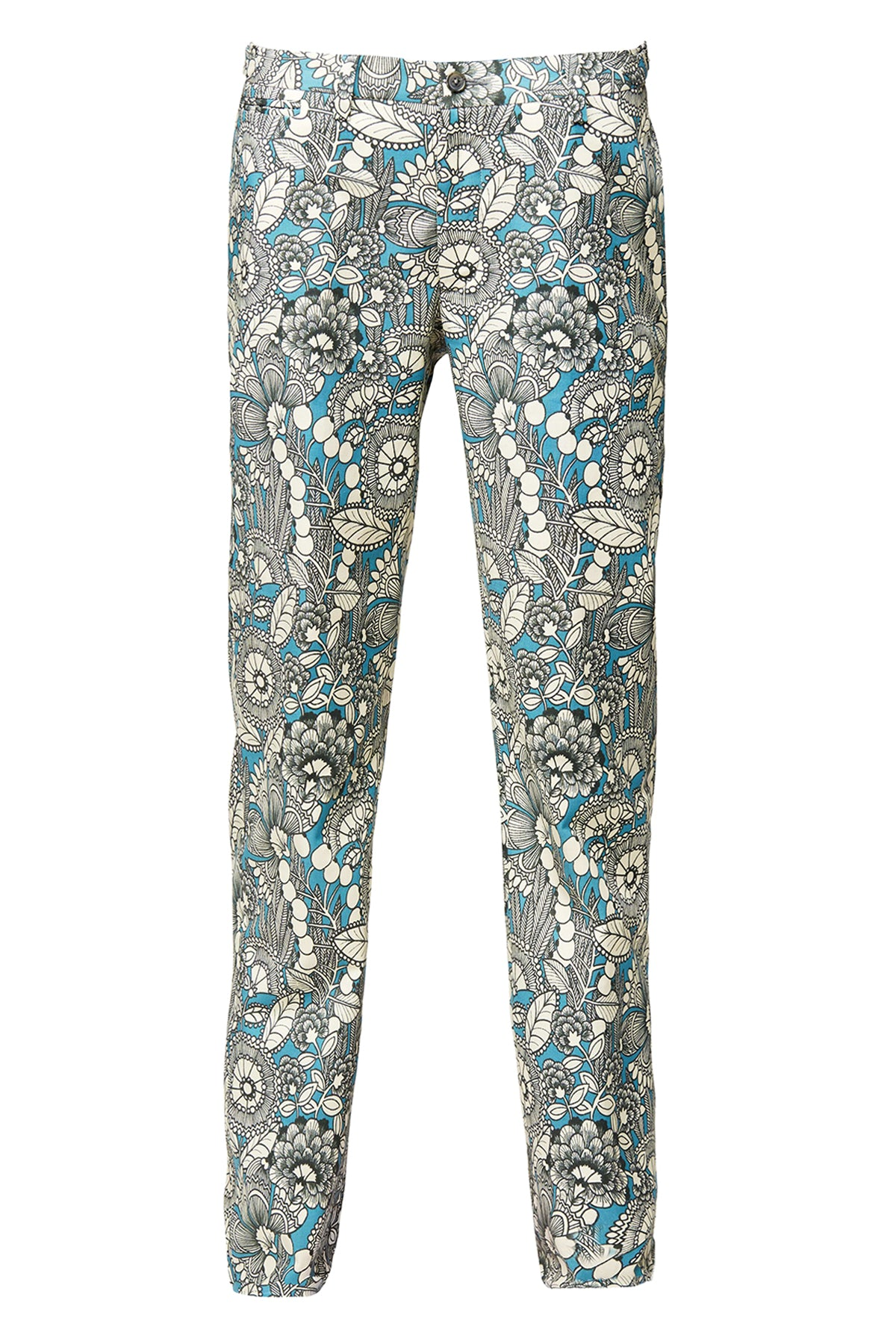 David August Teal Gardenia Trousers
