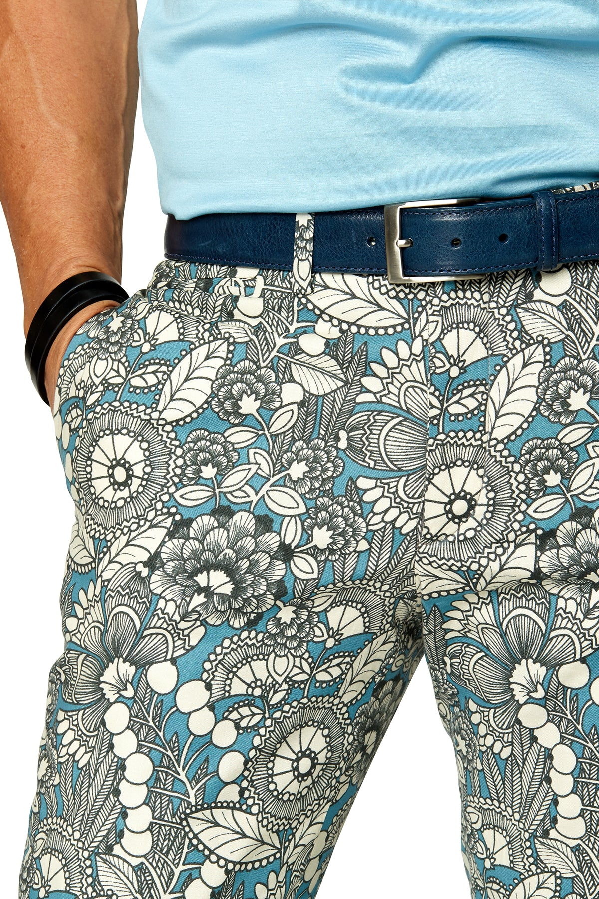 Teal Gardenia Trousers