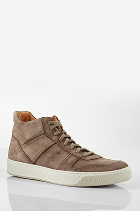 Santoni Ash Hightop Brown Suede Sneaker