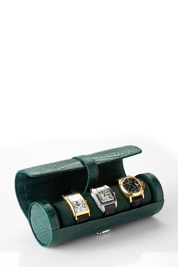 Genuine Crocodile Watch Roll Case