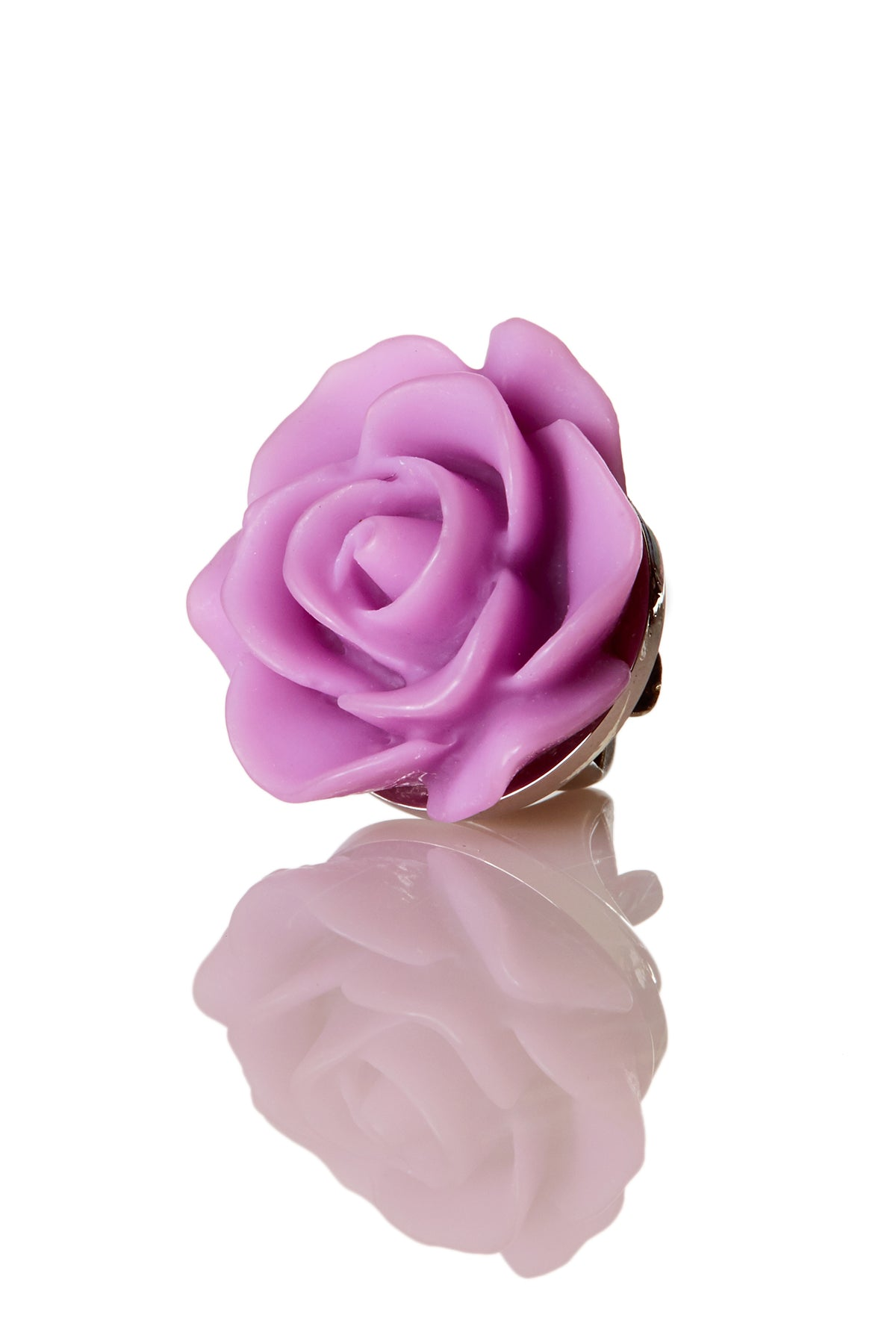 David August Open Rose Lilac Lapel Pin