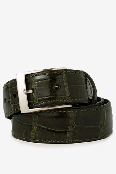 Olive Glossy Alligator