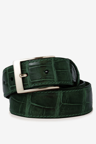 Green Glossy Alligator Belt