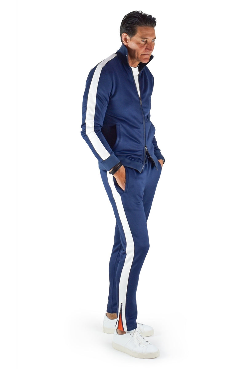 David August Tracksuit in Navy with White Trim