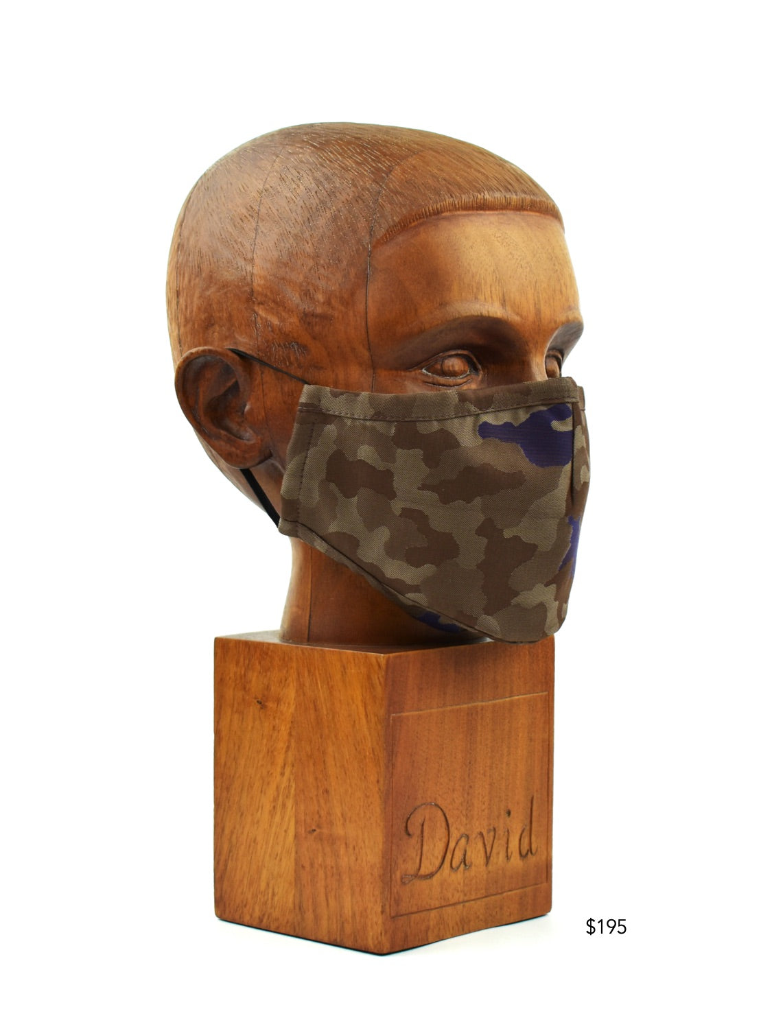 Premium Brown Camo Cloth Face Mask - FM31