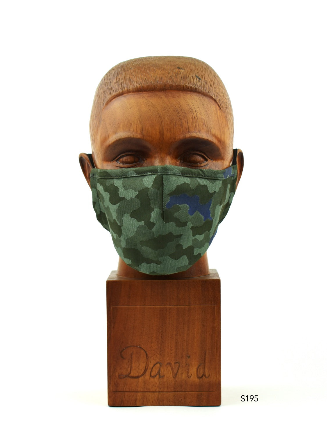 Premium Green Camo Cloth Face Mask - FM30