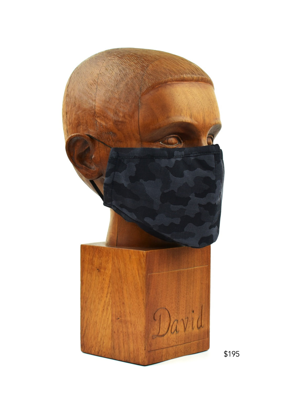 Premium Black with Grey Camo Cloth Face Mask - FM28