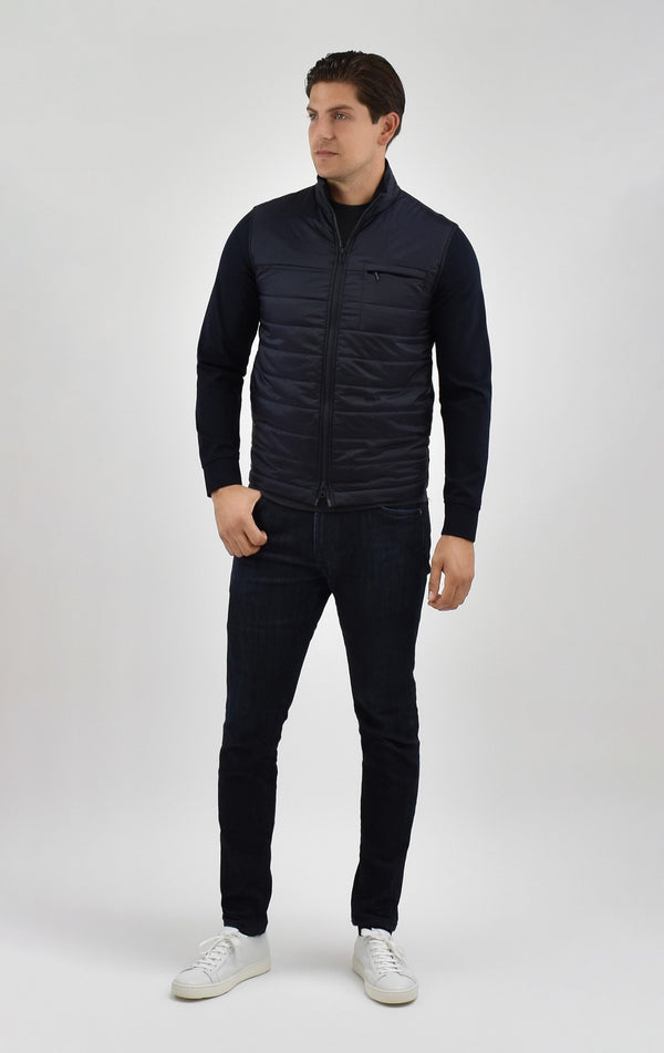 Quilted Travel Jacket in Navy