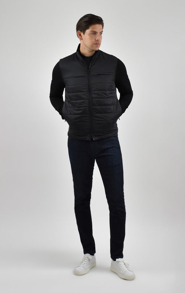 Quilted Travel Jacket in Black