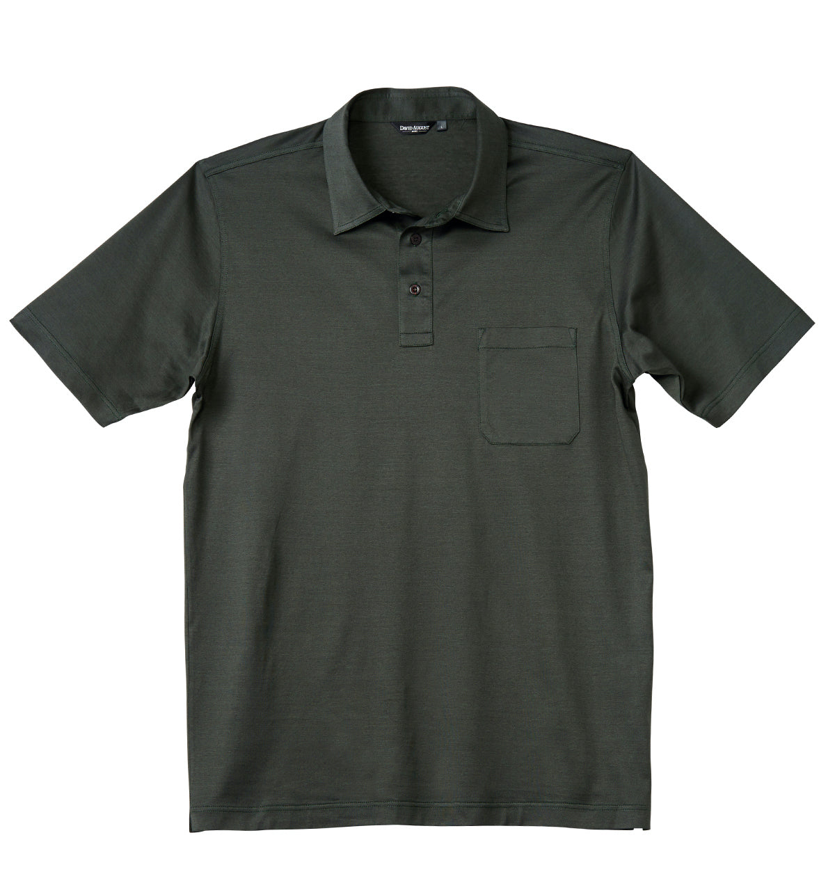 Luxury Mercerized Cotton Polo in Olive