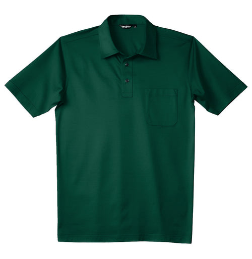 Luxury Mercerized Cotton Polo in Arcadia Green