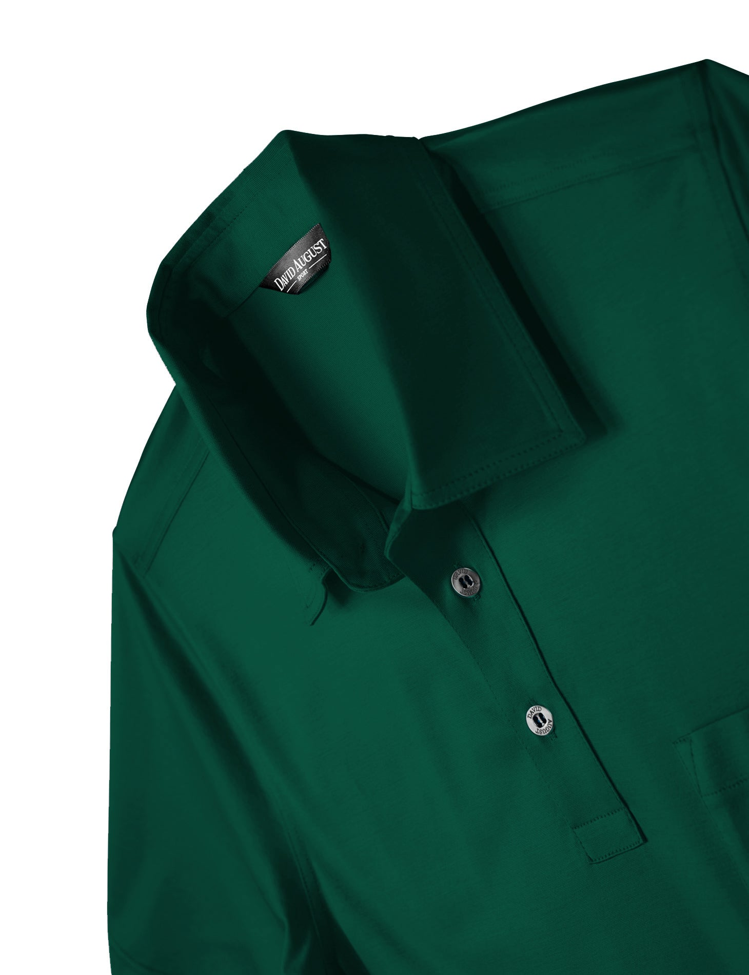 David August Luxury Mercerized Cotton Polo in Arcadia Green