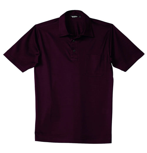 Luxury Mercerized Cotton Polo in Vino Rosso