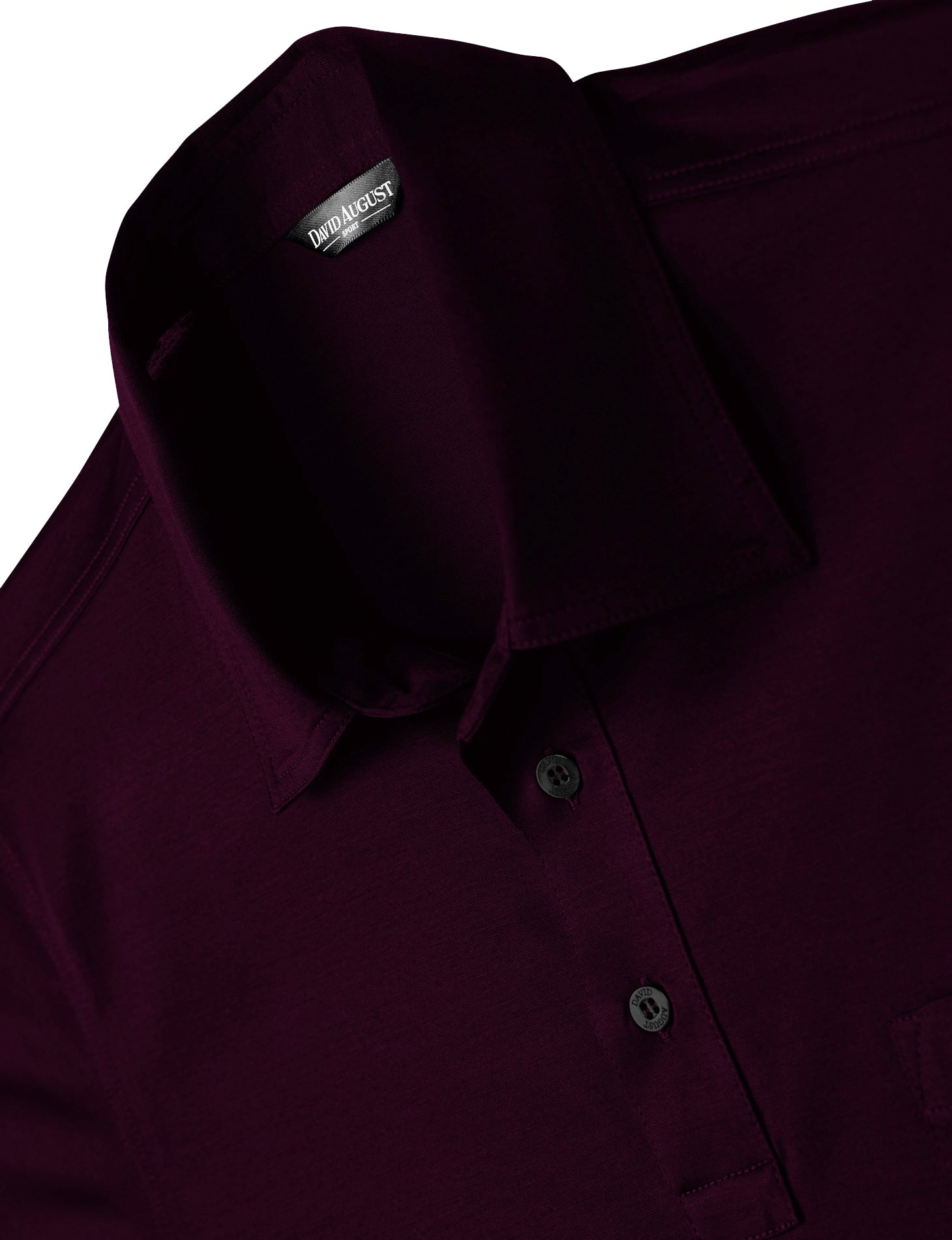 David August Luxury Mercerized Cotton Polo in Vino Rosso