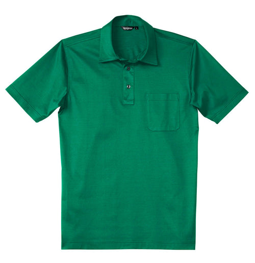 Luxury Mercerized Cotton Polo in Emerald Green