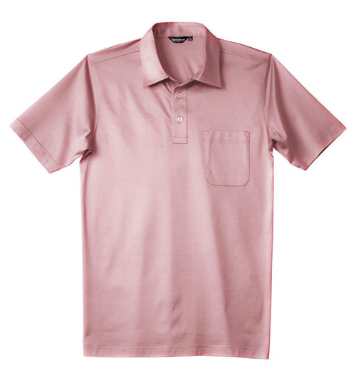 Luxury Mercerized Cotton Polo in Light Pink