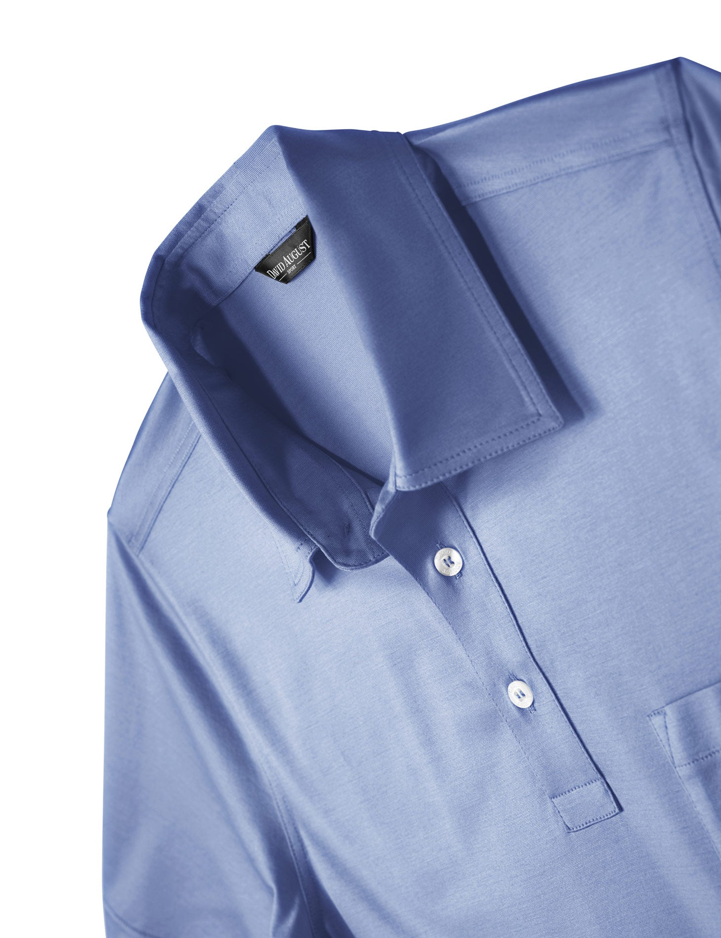 Luxury Mercerized Cotton Polo in Periwinkle