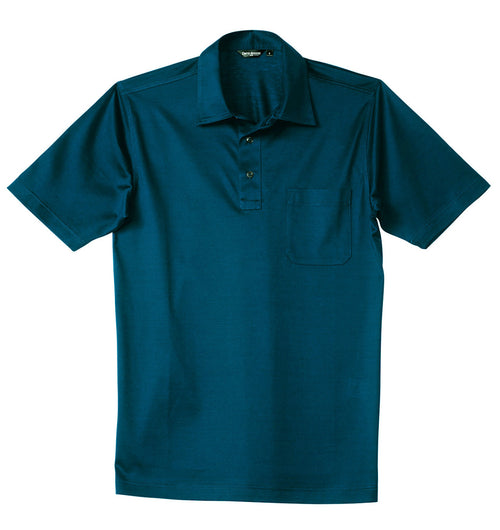 Luxury Mercerized Cotton Polo in Petrol Blue