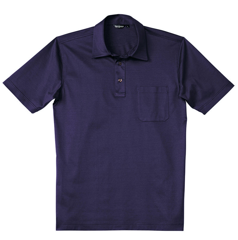 Luxury Mercerized Cotton Polo in Plum