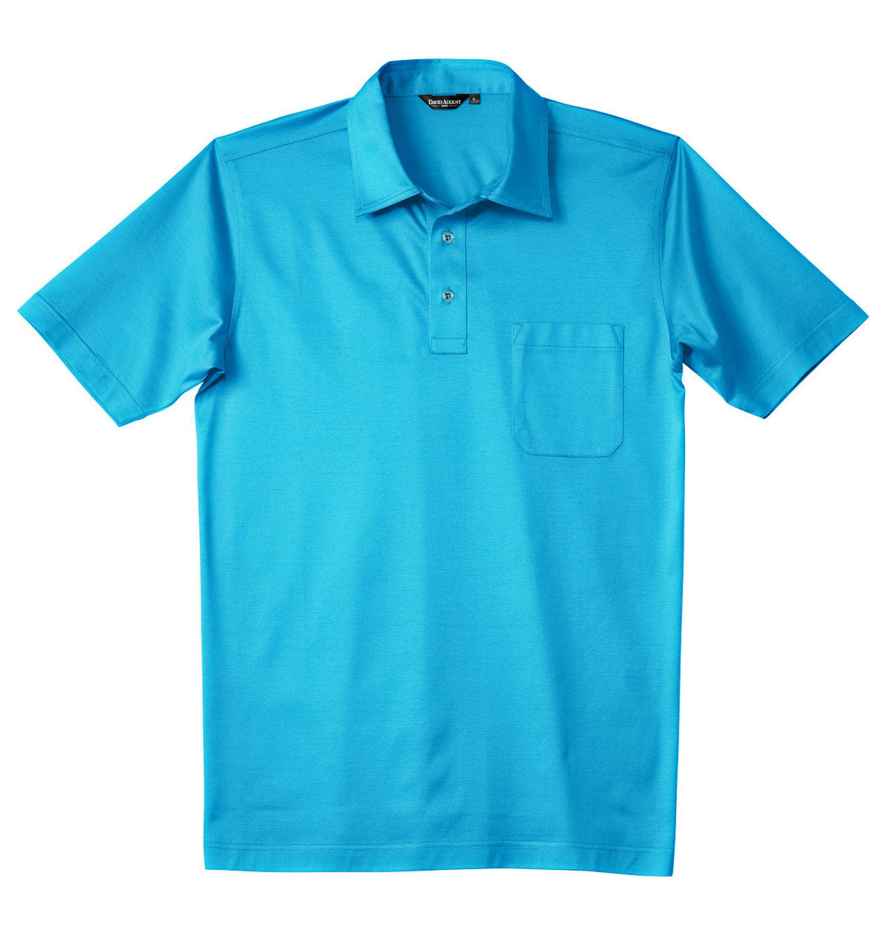 Luxury Mercerized Cotton Polo in Turquoise