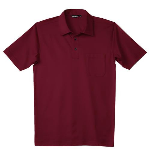 David August Luxury Mercerized Cotton Polo in Cranberry
