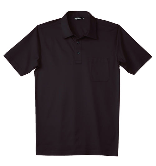 Luxury Mercerized Cotton Polo in Dark Aubergine