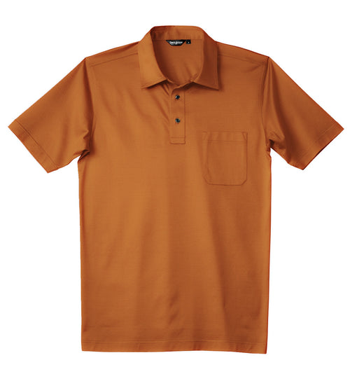 Luxury Mercerized Cotton Polo in Orange