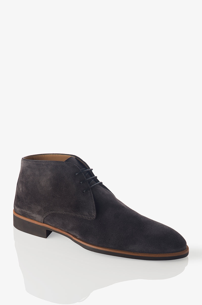 David August Suede Chukka Boot in Lavagna Blackboard
