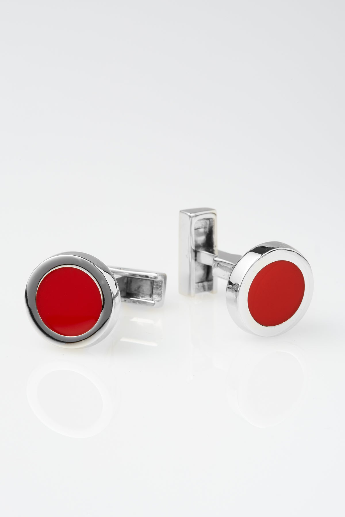 Two-Tone Dickens Cufflinks in Red