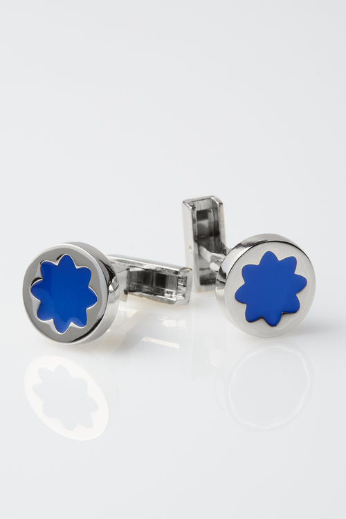 Two-Tone Byron Cufflinks in Blue