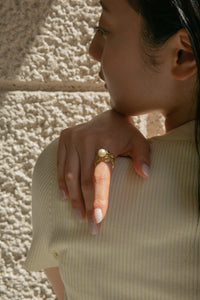 Drapey Pearl Ring