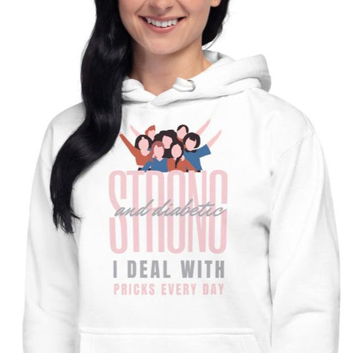 Strong & beautiful Diabetes Awareness Ladies Hoodie