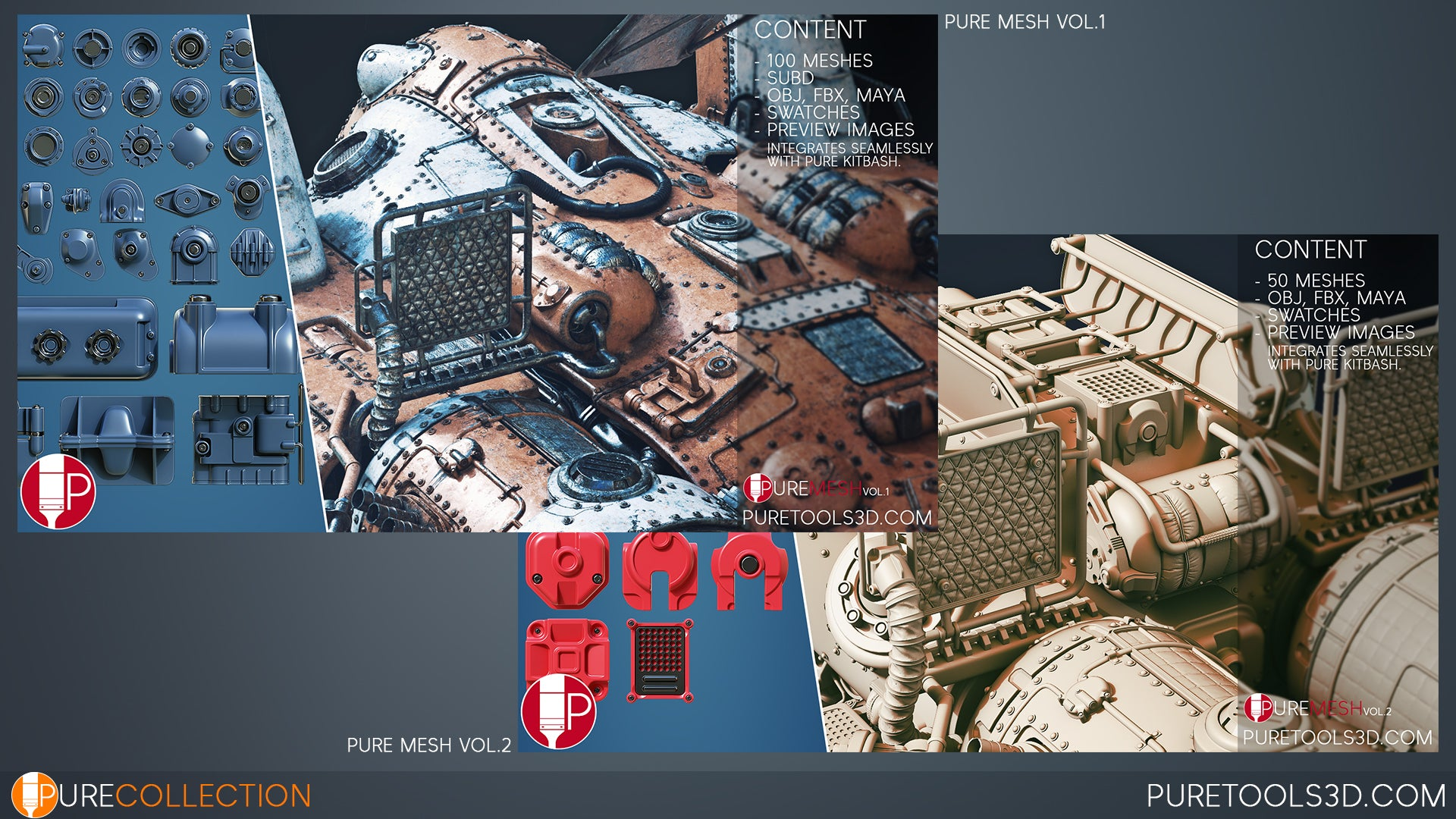Pure Collection Vol. 1 Preview of Pure Mesh Vol. 1 and Vol. 2