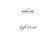 The One Co Cheshire Ltd gift card