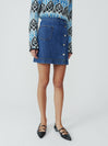 1976 Denim Wrap Skirt