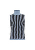 Spellbound Lurex Sleeveless Turtleneck