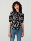 After Hours Flowers Pearl Button Blouse