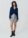Laminated Chequerboard Casual Mini Skirt