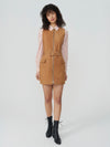 Marnie Belted Suede Dress