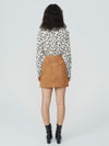 Marnie Suede Button Front Skirt