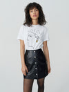 Mulholland Leather Button Up Skirt