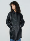 Mulholland Leather Overcoat
